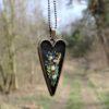 haftowane serce polne kwiaty